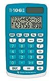 Texas Instruments TI-106 II - Calculadora científica Solar, Una calculadora de bolsillo duradera y fácil de usar con cuatro operaciones aritméticas básicas, EN/GR/DU/FR