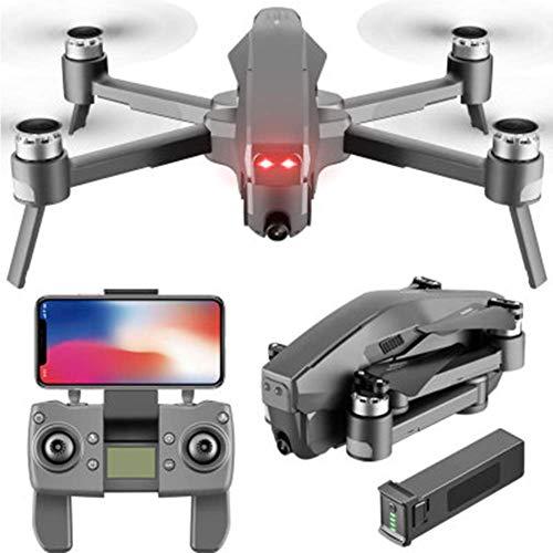 Drone FlyCam Quadcopter UAV con Fotocamera 4K Gimbal a 3 Assi Tempo di Volo 30 Minuti, per Principianti Nero 1080P