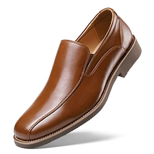 Men's Dress Shoes- Classic Modern Formal Leader Slip On Loafer Black 7