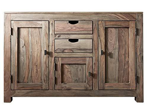 MASSIVMOEBEL24.DE Sheesham Massivmöbel Sideboard Palisander Holz massiv Nature Grey #86