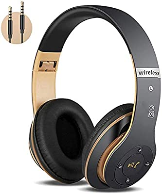 6S Wireless Headphones Over Ear,Hi-Fi Stereo Foldable Wireless Stereo Headsets Earbuds with Built-in Mic,Volume Control, FM for iPhone/Samsung/iPad/PC from Nottingham_Shopping Center