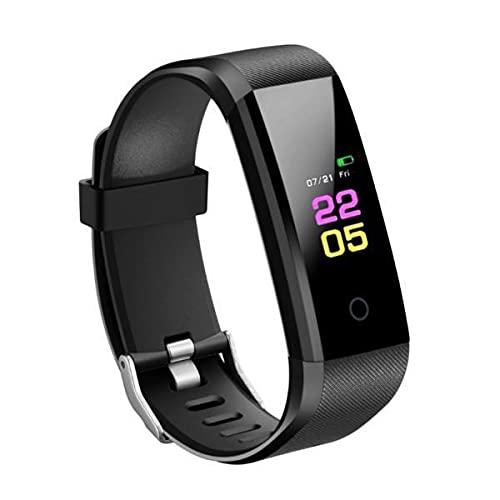 MagiDeal 2x115 Plus Reloj Inteligente Pulsera Rastreador de Ejercicios Monitor de Frecuencia Cardíaca Negro