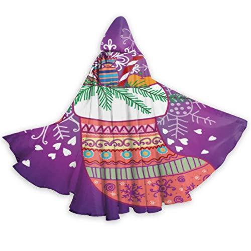 JONINOT Capa con capucha divertida de Halloween unisex, calcetín de Navidad con capucha Capa de adulto Capa de fiesta de cosplay Disfraz de Navidad de Halloween metálico