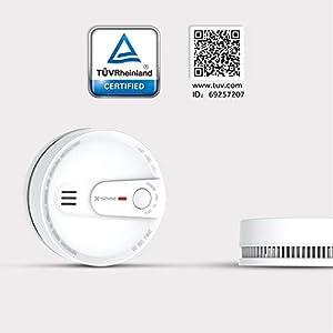 X-Sense 10-Jahres-Rauchmelder, Schutz vor Fehlalarm, Rauchmelder 10 Jahre Batterie, Verbesserter Feuermelder, TÜV nach EN14604 Zertifiziert, SD2L (5 Stück)