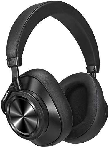 Bluedio T7 Plus - Auriculares Bluetooth con cancelación activa de ruido, auriculares deportivos inalámbricos definidos por el usuario para teléfonos compatibles con ranura para tarjetas SD