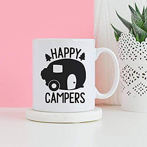 Taza Happy Campers, regalo de camping, regalo para caravana, taza para abuelo, regalos de viaje