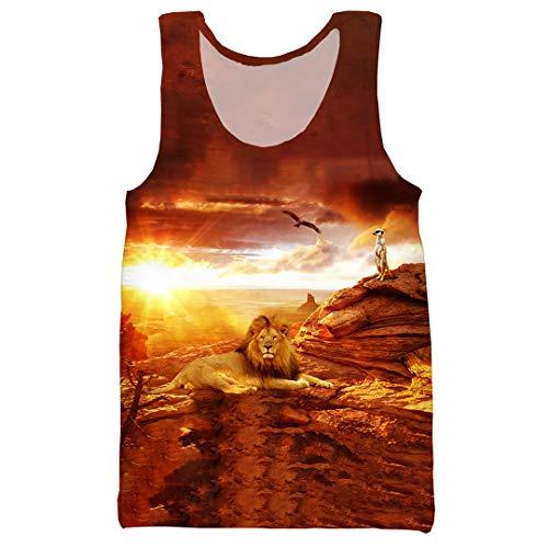 Cool Erstaunlich Afrika Tiere 3D-Druck Männer Frauen Mode-T-Shirt/Pullover/Sweatshirts/Weste/Tops Tank Top 4XL