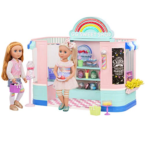 Glitter Girls by Battat – GG Sweet Shop Playset – Toy Store, House, and Accessories for 14-inch Dolls – Ages 3 and Up