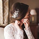 Deniferymakeup - Fermaglio per capelli da sposa, accessorio per matrimonio, con perle e cr...