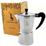 Bergström & Sons Espressokocher | Espressokanne aus Aluminium | Camping Kaffeekocher | Moka-Kanne...