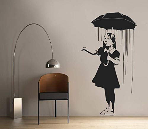 Best Design Amazing Decals Banksy - Umbrella Wall Sticker Art Made in USA