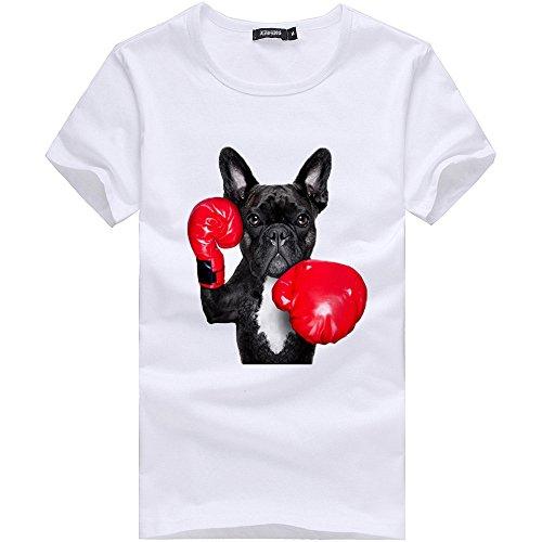 Overdose Camiseta para Hombre Camiseta Impresa Blusa Moda De Impresión De Boxeo Divertidas Originales Baratas Camisas para Hombre Blanca Manga Corta