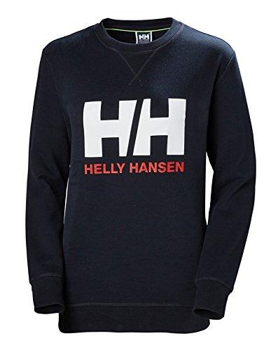 Helly Hansen HH Logo Crew Sudadera Deportiva, Mujer, Azul (Navy), L