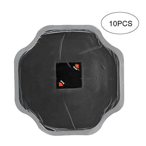 KIMISS Reparación de neumáticos de Goma, 10 Piezas de 170 mm, reparación de pinchazos de neumáticos de Caucho Natural para Coche, Parches sin cámara de Parche frío