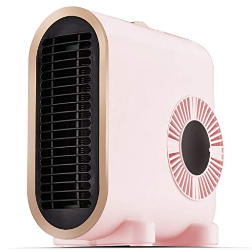 Mini Desk Space Heater, Portable Electric Fan Heater, Personal Air Heater with Rapid Heating,Constant Warmth, Low Noise for Office and Home,The Best Winter Gift (Color : Pink, Size : 220V)