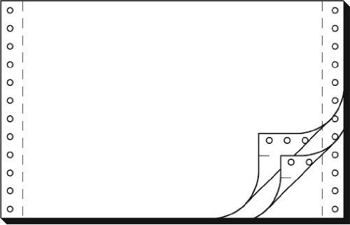 SIGEL 36243 Endlospapier 6 Zoll x 240 mm (A5 quer), 56/53/57 g, 1200 Sätze LP, SD, 3fach