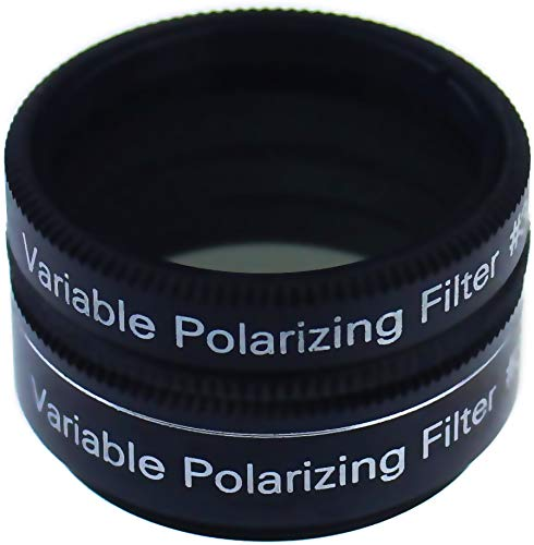 Gosky 1.25 Inch Variable Polarizing Filter No3 for Telescopes & Eyepiece - Progressively Dim The View - Increasing Contrast - Reducing Glare and Increasing Detail