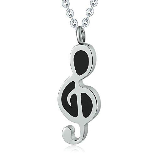 Daesar Collar Perro Acero Inoxidable Nota Musical Collar de Ceniza Collar Se Puede Grabar Colgante...