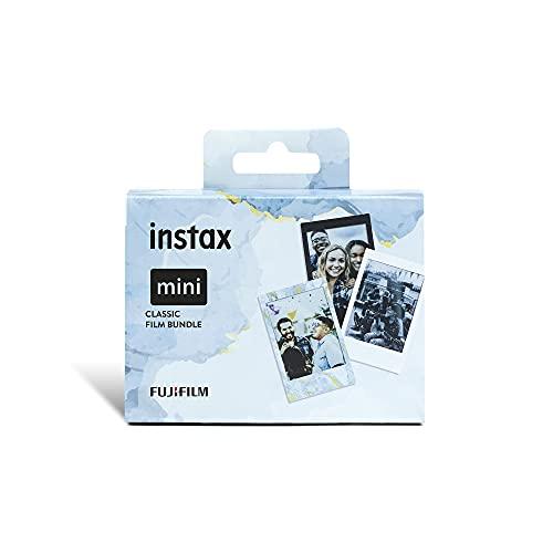 instax mini Film Classic 3'er Pack (je ein Film Black Frame, Blue Marble, Monochrome)