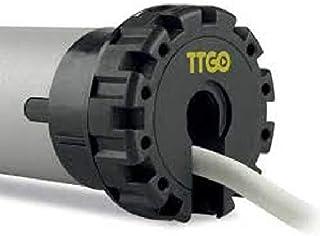 AWITALIA -Motore NICE 230V per tapparella professionale, con finecorsa meccanico Ø45 mm – Completo di staffa rettangolare, adattatore 60mm ottagonale e cavo, Nice TTGO.