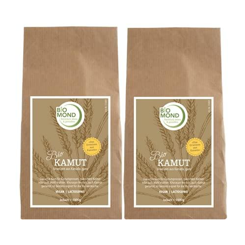 BIO Kamut Urweizen Körner ganz von BIOMOND / 2 x 1.000 g Vorteilspack / Khorasan-Weizen aus Kanada