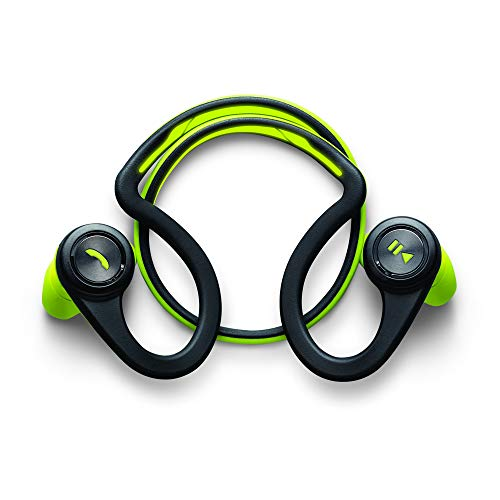 Plantronics BackBeat FIT Wireless Bluetooth Workout Headphones - Waterproof Sports Headphones for Running and Workout, Green, Frustration Free Packaging