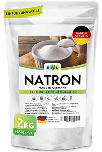 Natron Pulver Baking Soda 2000g + 350g extra XXL Vorteilspack Hochreine deutsche Lebensmittelqualität I Backpulver...
