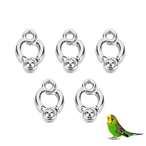 5 Piezas Anillo de pie de Metal para pájaros Actividad de Loro...