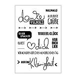 ECMQS Alphabet DIY Transparente Briefmarke, Silikon Stempel Set, Clear Stamps, Schneiden Schablonen, Bastelei Scrapbooking Werkzeug