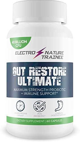 Gut Restore Ultimate Probiotic Restore Your Health and Body Balance with Probiotics Natural product image