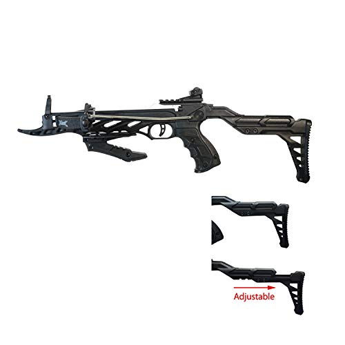 ROGUE SAS Menace 80 Pound Self-Cocking Pistol Crossbow w/Adjustable Stock + Handgrip with 3 Bolts