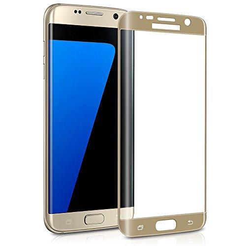 Protezione per schermo in vetro temperato S7 Edge, MuStone protezioni per schermo in vetro temperato curvo 3D Edge [copertura totale] [Installazione semplice] [Bubble Free] per Galaxy S7 Edge (Oro)