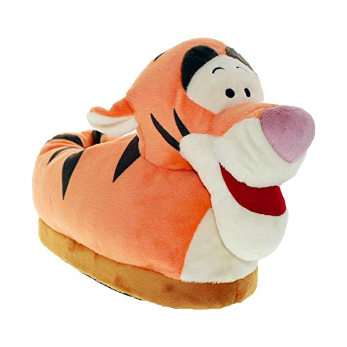 7012-4 - Disney Winnie The Pooh - Tigger Slippers - X-Large/XX-Large - Happy Feet Mens and Womens Slippers
