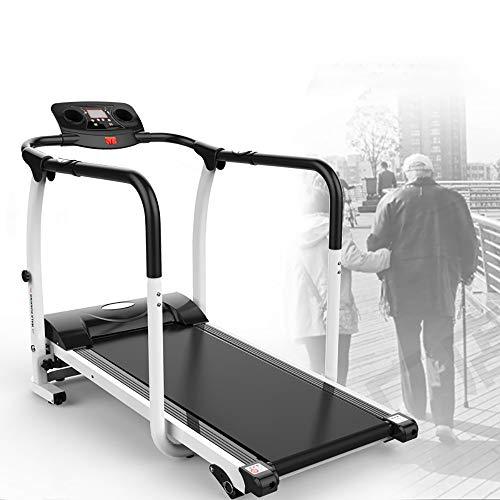 QHQH Cinta De Correr Plegable 0.5-6Km/H Máquina De Caminar para Ancianos En Casa Rehabilitación De Extremidades De Ejercicio Físico Seguridad De Entrenamiento En Interiores