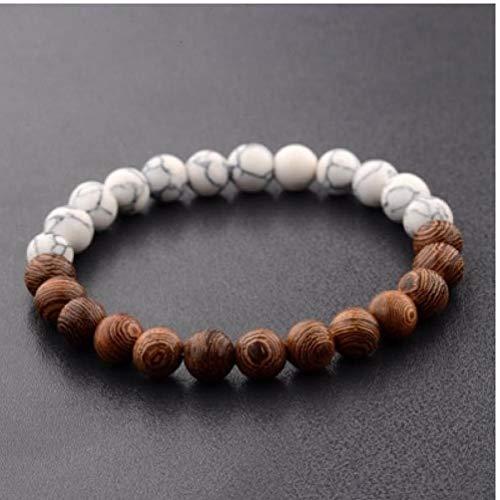 8 mm Nieuwe Natuurlijke Houten Kralen Armbanden Mannen Zwart Ethinc Meditatie Witte Armband Vrouwen Gebed Sieraden Yoga Armband