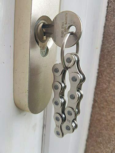 Pumpkiin Prints HANDGEMACHTE Fahrrad Fahrrad Kette Schlüsselanhänger - Geschenke für Radfahrer - Fidget Keyring
