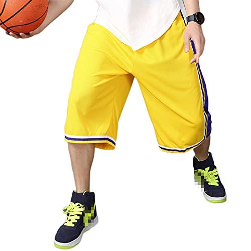 YUEMO Pantalones cortos de baloncesto de la NBA para hombre, de verano, 3/4, 12, 3XL