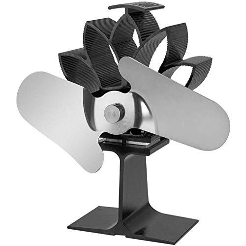 Hot Air fornuis, 2 ventilatoren, zelfvoorzienend, open haard, ventilator, houtkachel, draagbaar, thermische koeling, milieuvriendelijk D
