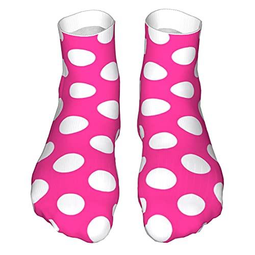 OUYouDeFangA Rosa Lunares Antecedentes Adulto Calcetines Algodón Lindo Calcetines Cortos Para Yoga Senderismo Ciclismo Correr De
