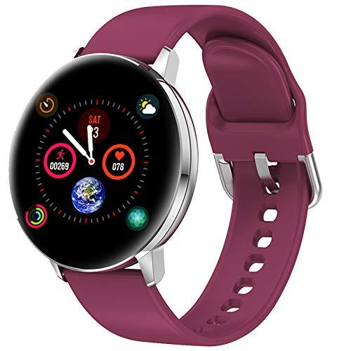 TD28 Smart Kijk Bloeddrukmeting Waterproof Smartwatch Mannen Vrouwen Heart Rate Oxygen Monitor Whatsapp Reminder Watches,Purple