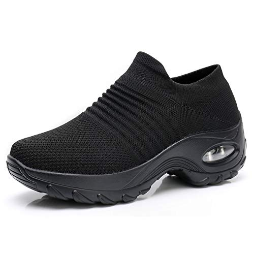 Women Slip On Walking Shoes - Mesh Breathable Sneakers Athletic Road...