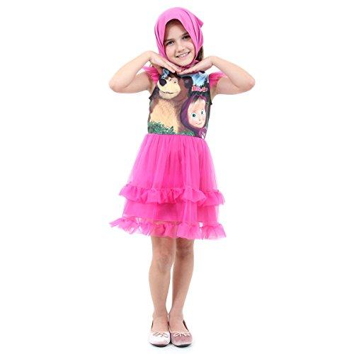 Masha Faces Luxo Infantil 30505-p Sulamericana Fantasias Rosa P 4 Anos