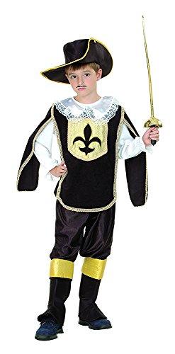 Bristol Novelty - Costume da moschettiere, per ragazzo, bianco