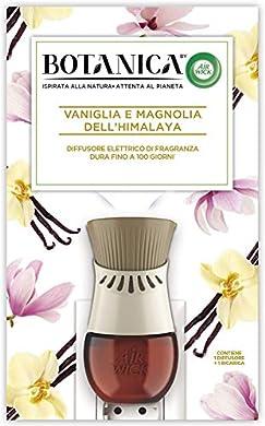 Foto di Airwick Botanica Diffusore di Oli Essenziali Elettrico, 1 Confezione con un Profumatore per Ambienti e una Ricarica fragranza Vaniglia e Magnolia dell'Himalaya, Fragranza Naturale