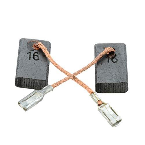 Escobillas de Carbón para BOSCH GWS 1000 amoladora - 5x10x16mm - 2.0x3.9x6.3