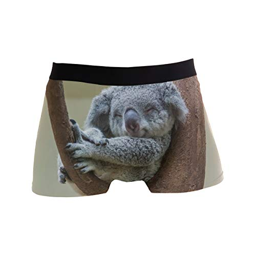 TropicalLife LZXO Herren Boxershorts Cute Koala Bear Unterwäsche Trunks Sanft Strecken Atmungsaktive Boxershorts (Größe: M)