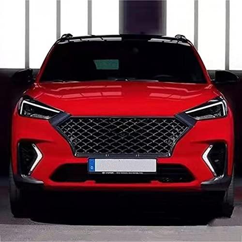 WXQYR Hochwertiges ABS-Auto-Frontgitter Grid Grill Grille Motor Rundum Teil für Hyundai Tucson 2019 2020 Karosserie-Design