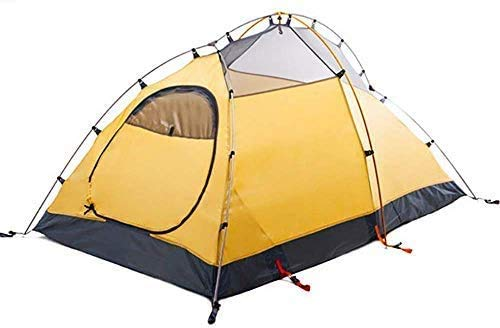 2 People Camping Tent Outdoor Tent Awning Waterproof hut Hiking Trips rain Fly,Yellow