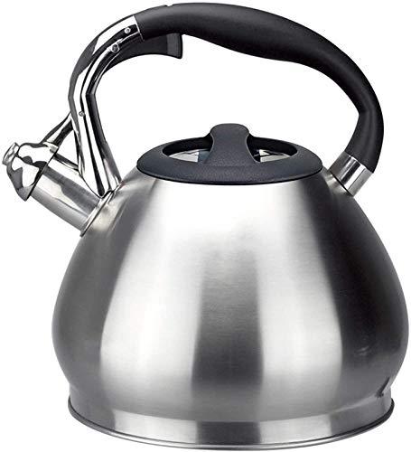 Tetera silbante Cocina de inducción Acero Inoxidable 304 3L Hervidor de hervidor de Gran Capacidad de Gran Capacidad SHITLO Sonido QUEMADURA Cocina DE Gas SILVADO 19x24cm WHLONG