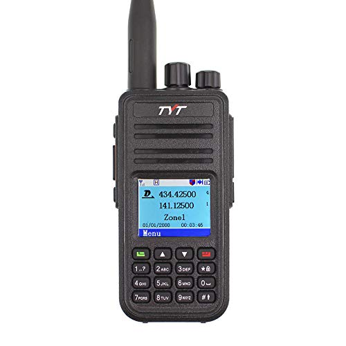 TYT MD-UV380 with GPS MD380 VHF/UHF MD-380 Dual Band Handheld Two Way Radio...